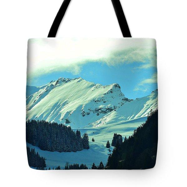 Alps Green Profile Tote Bag