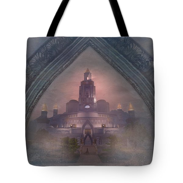 Tote Bag featuring the digital art Alqualonde Castle by Kylie Sabra