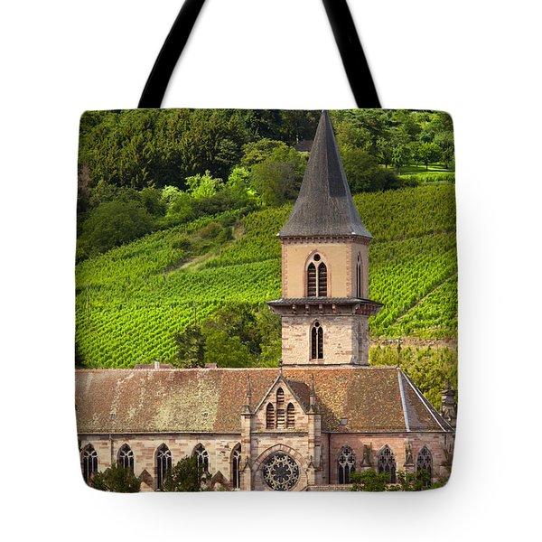 Alsace Church Tote Bag by Brian Jannsen