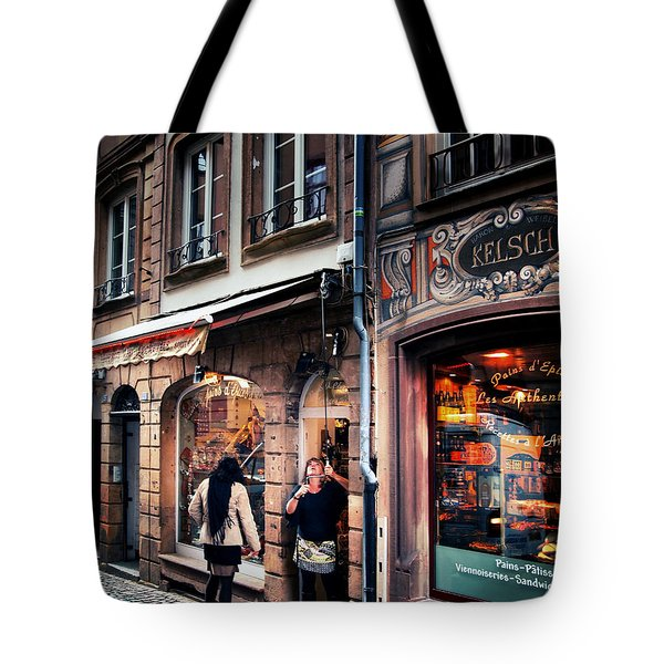 Tote Bag featuring the photograph Alsace Slice Of Life by Jim Hill