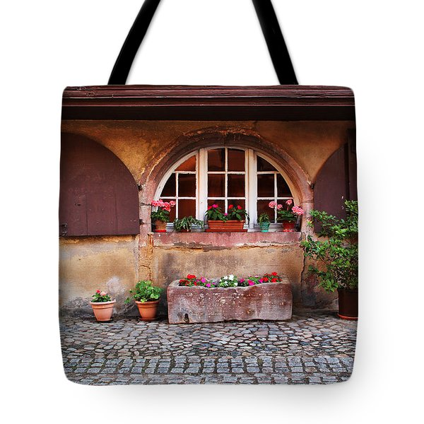 Alsatian Home In Kaysersberg France Tote Bag by Greg Matchick