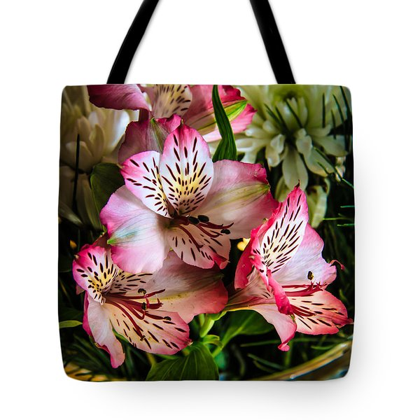 Alstroemeria Tote Bag by Robert Bales