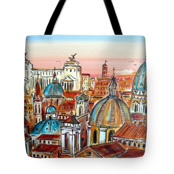 Altare Della Patria In Roma Tote Bag