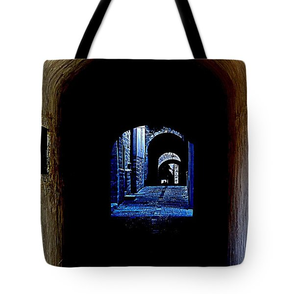 Altered Arch Walkway Tote Bag by Richard Rosenshein
