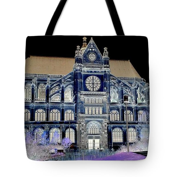 Altered Image Of Saint Eustache In Paris France Tote Bag by Richard Rosenshein