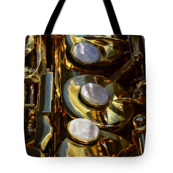 Alto Sax Reflections Tote Bag by Ken Smith