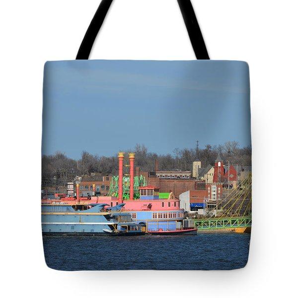 Alton Belle Casino Tote Bag by Peggy Franz