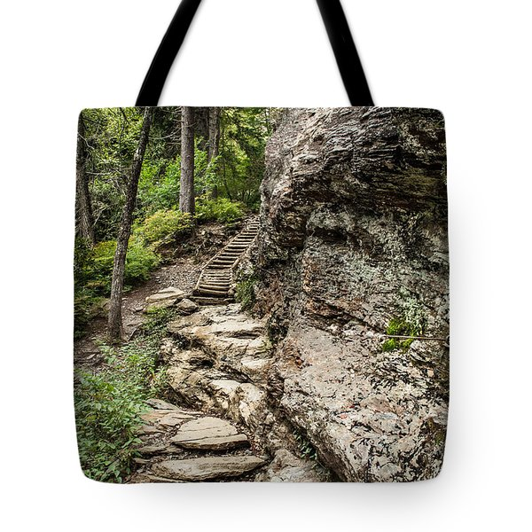 Alum Cave Trail Tote Bag by Debbie Green
