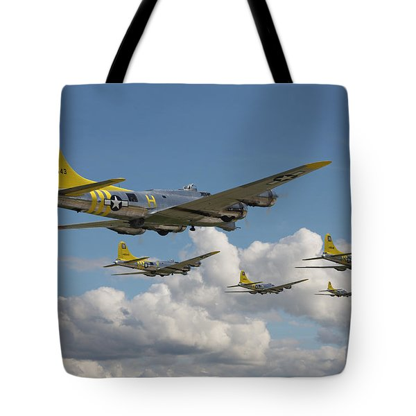 Aluminium Overcast Tote Bag by Pat Speirs