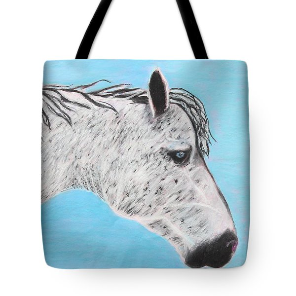 Tote Bag featuring the painting Alvaro Stallion by Jeanne Fischer