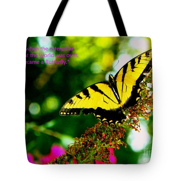 Always Hope - Butterfly Tote Bag