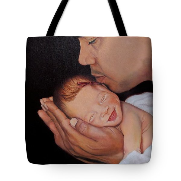 Always In His Heart And In His Hands Tote Bag