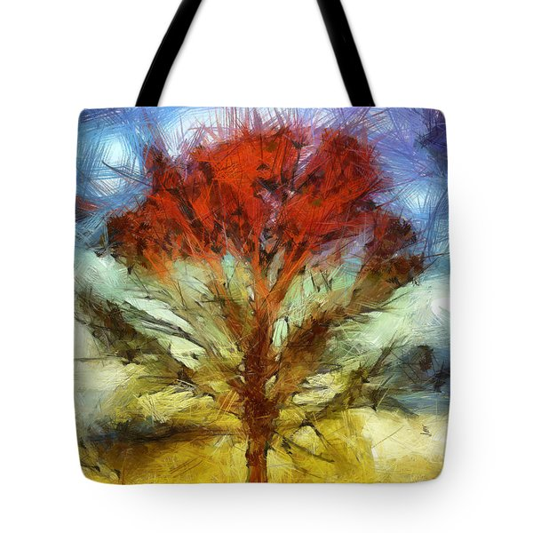 Tote Bag featuring the drawing Always Reaching Up by Joe Misrasi