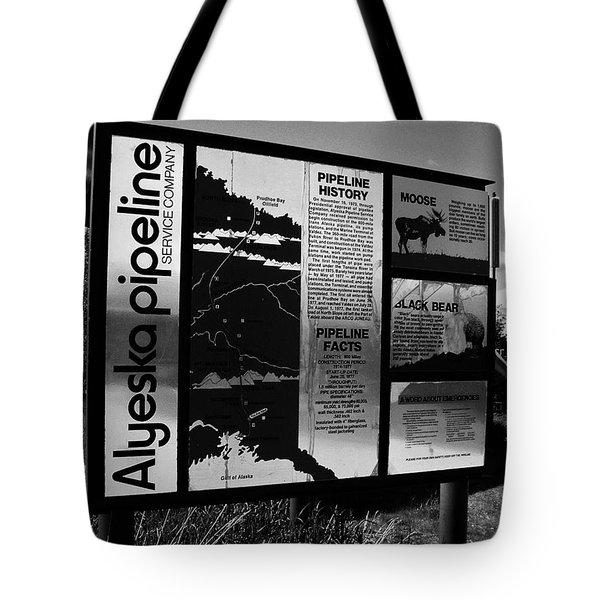 Alyeska Pipeline Tote Bag