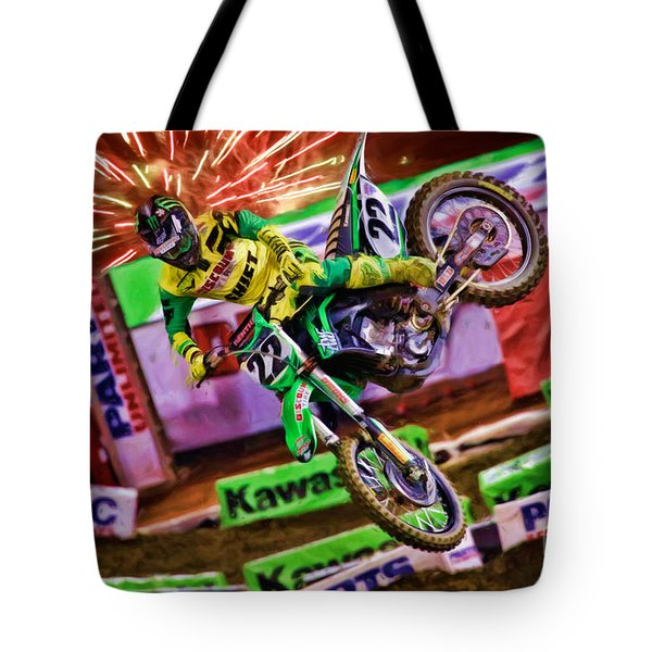 Ama 450sx Supercross Chad Reed Tote Bag