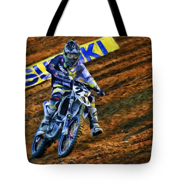 Ama 450sx Supercross Jason Anderson Tote Bag