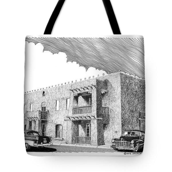 Amador Hotel In Las Cruces N M Tote Bag by Jack Pumphrey