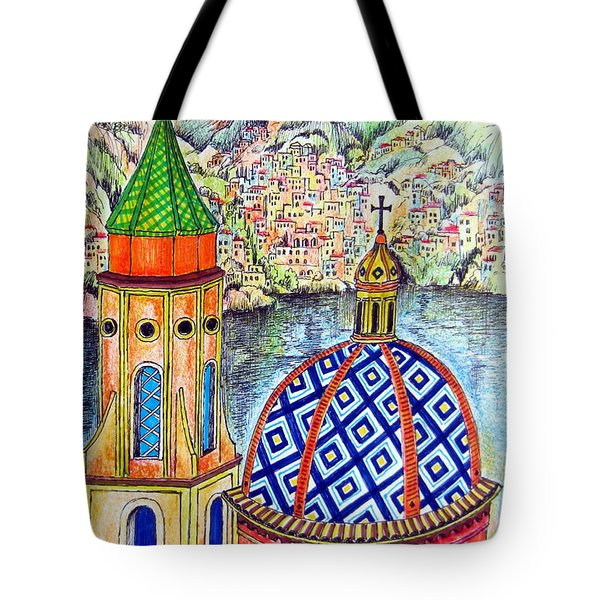 Amalfi And Positano Coast  Tote Bag