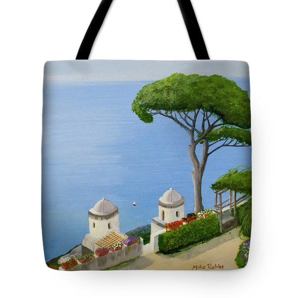 Amalfi Coast From Ravello Tote Bag by Mike Robles