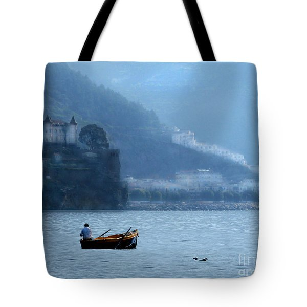 Tote Bag featuring the photograph Amalfi To Capri. Italy by Jennie Breeze