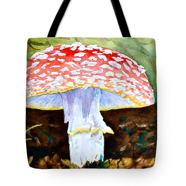 Amanita And Lacewing Tote Bag by Beverley Harper Tinsley