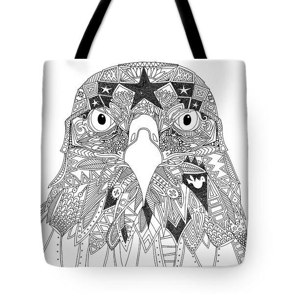 Amarican Eagle Black White Tote Bag
