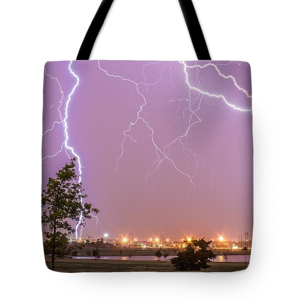 Amarillo Bolts Tote Bag