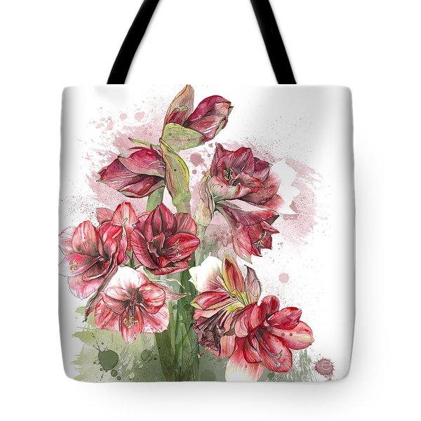 Amaryllis Flowers - 4. - Elena Yakubovich Tote Bag