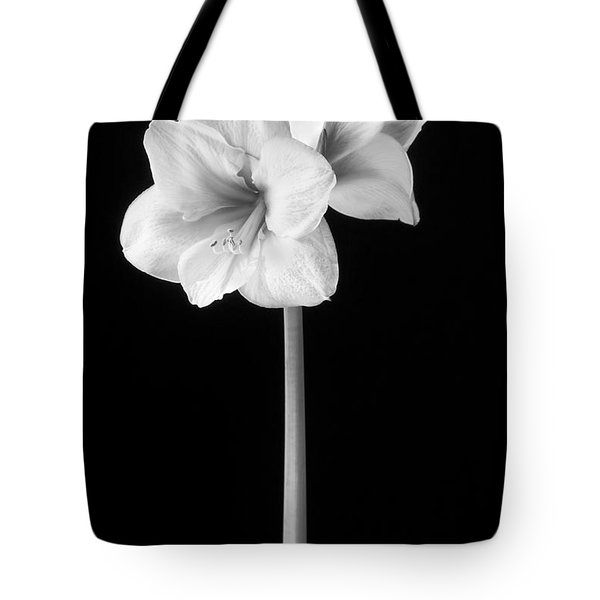 Amaryllis In Black And White Tote Bag
