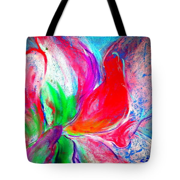 Funky Amaryllis Lily Tote Bag