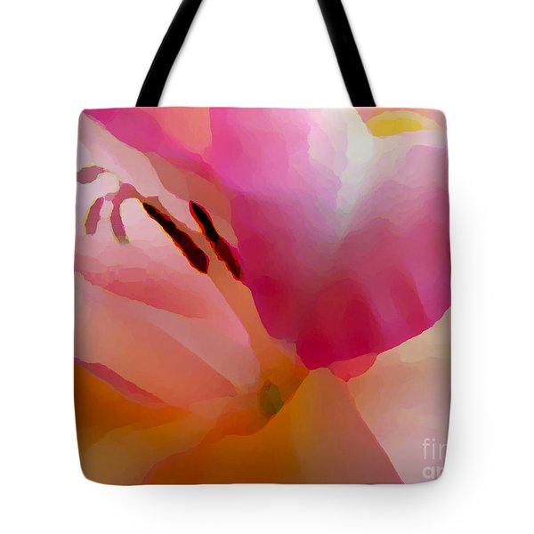 Gladiola Photo Painting Tote Bag by Rich Collins