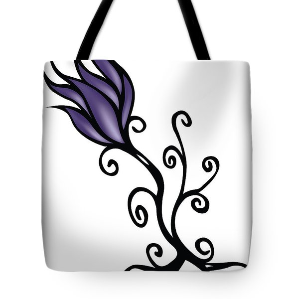Tote Bag featuring the digital art Amathist Rose by Jamie Lynn