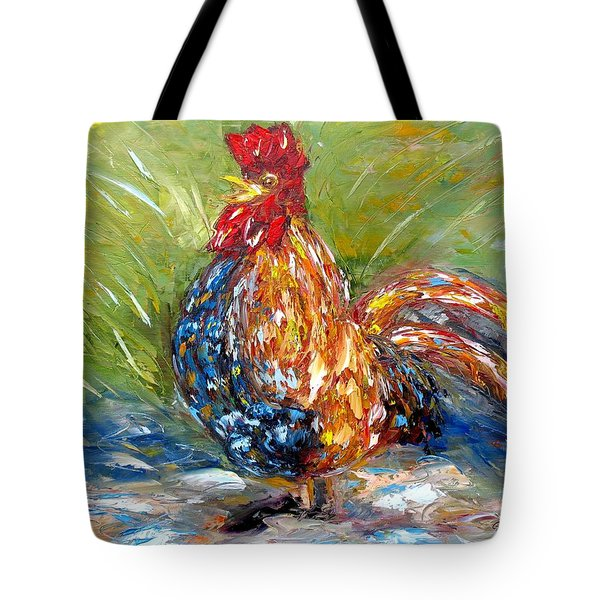Amazed Rooster Tote Bag