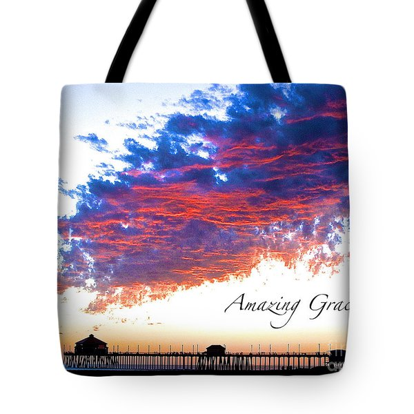 Amazing Grace Fire Sky Tote Bag