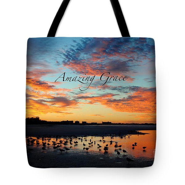 Amazing Grace On Siesta Key Tote Bag by Margie Amberge