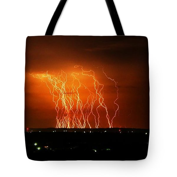 Amazing Lightning Cluster Tote Bag