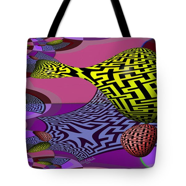 Mandelbrot Maze Tote Bag