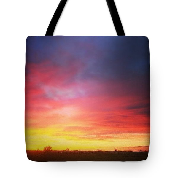 Amazing Sunset The Other Day Tote Bag