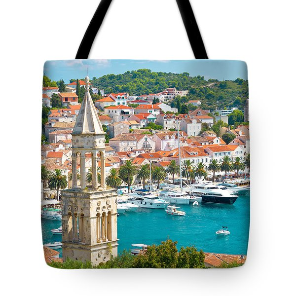 Amazing Town Of Hvar Harbor Tote Bag