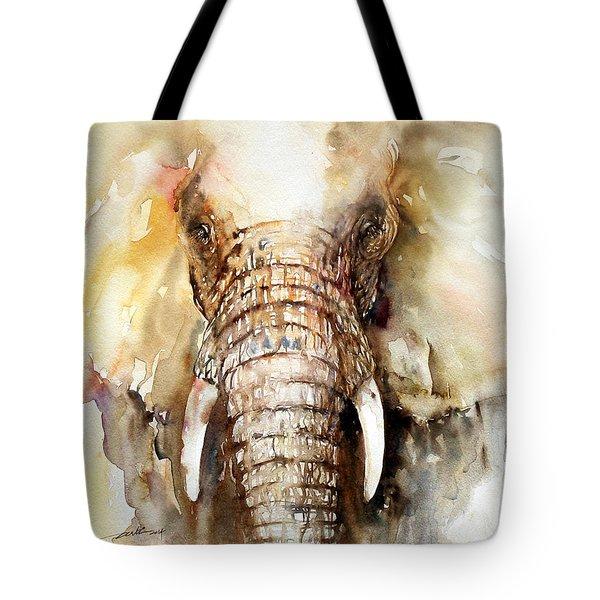 Amber Elephant Tote Bag