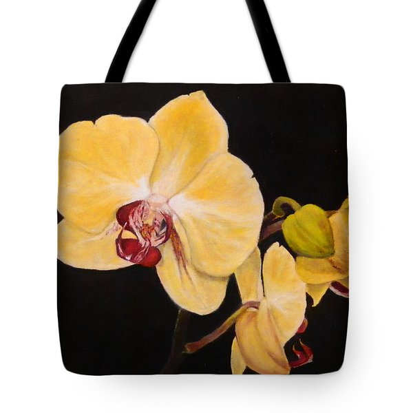 Amber Orchids Tote Bag