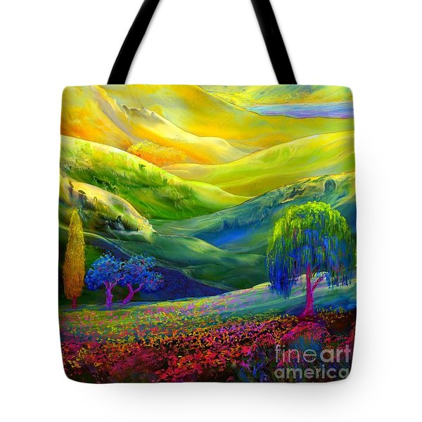 Wildflower Meadows, Amber Skies Tote Bag