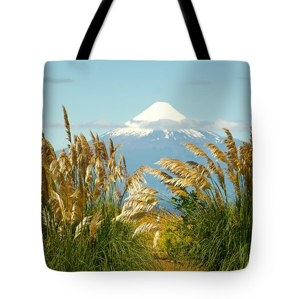 Amber Waves Of Osorno Tote Bag