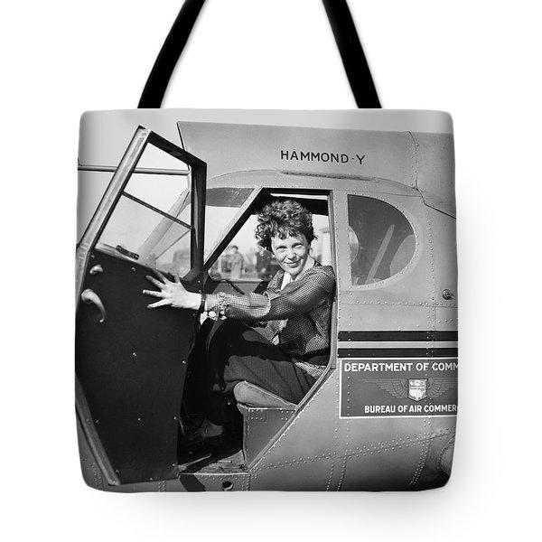 Amelia Earhart - 1936 Tote Bag by Daniel Hagerman