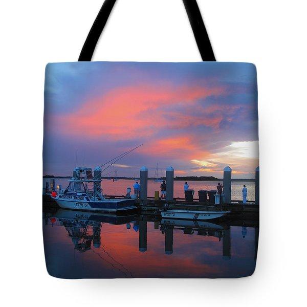Tote Bag featuring the photograph Amelia's Marina by Paula Porterfield-Izzo