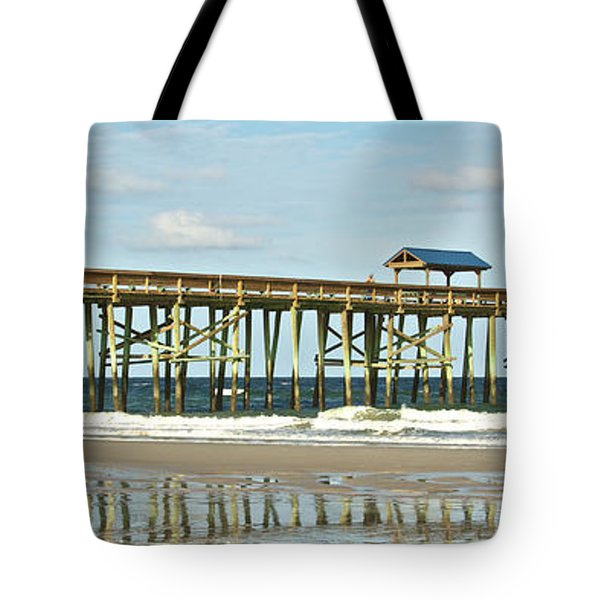 Tote Bag featuring the photograph Amelia's Pier by Paula Porterfield-Izzo