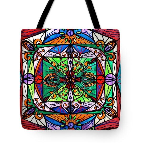Ameliorate Tote Bag by Teal Eye  Print Store