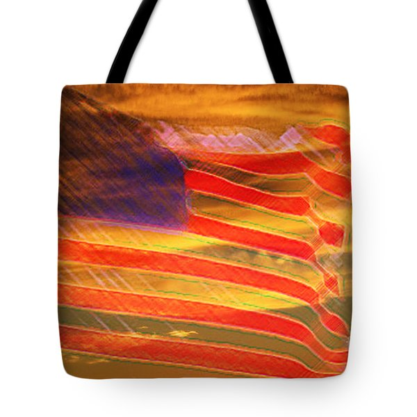 America Distress Tote Bag by Beverly Guilliams