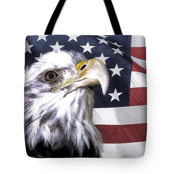 America Tote Bag by Linda Blair