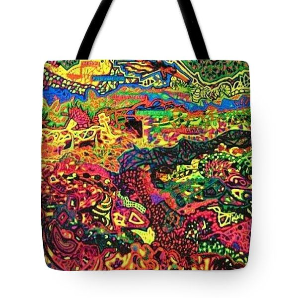 American Abstract Tote Bag